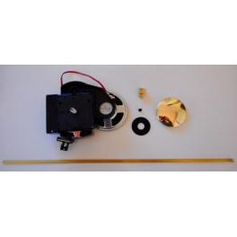Movimento al Quarzo UTS perno sfere 21mm - con suoneria e Pendolo