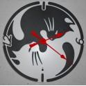 Orologio da parete di Designal quarzo Art.Gatto YinYan
