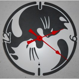 Design Quartz wall clock Item Cat-YinYan